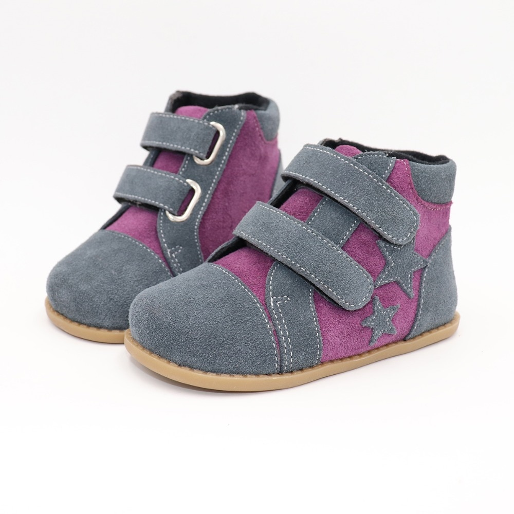 Tipsietoes New Winter Children Shoes Barefoot Leather Martin Star Boots Kids Snow Girls Boys Rubber Fashion Sneakers Bota