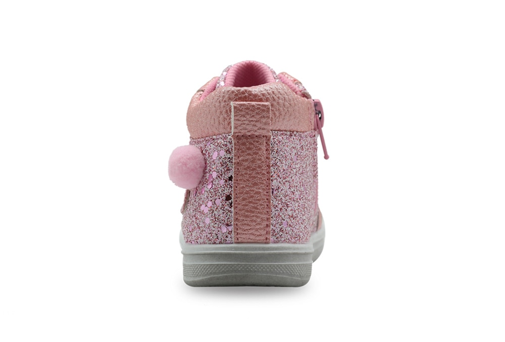 Apakowa Girls Fashion Ankle Boots Toddler Kids Children's Spring Autumn Anti-slip School Shining Casual Shoes with Arch Support