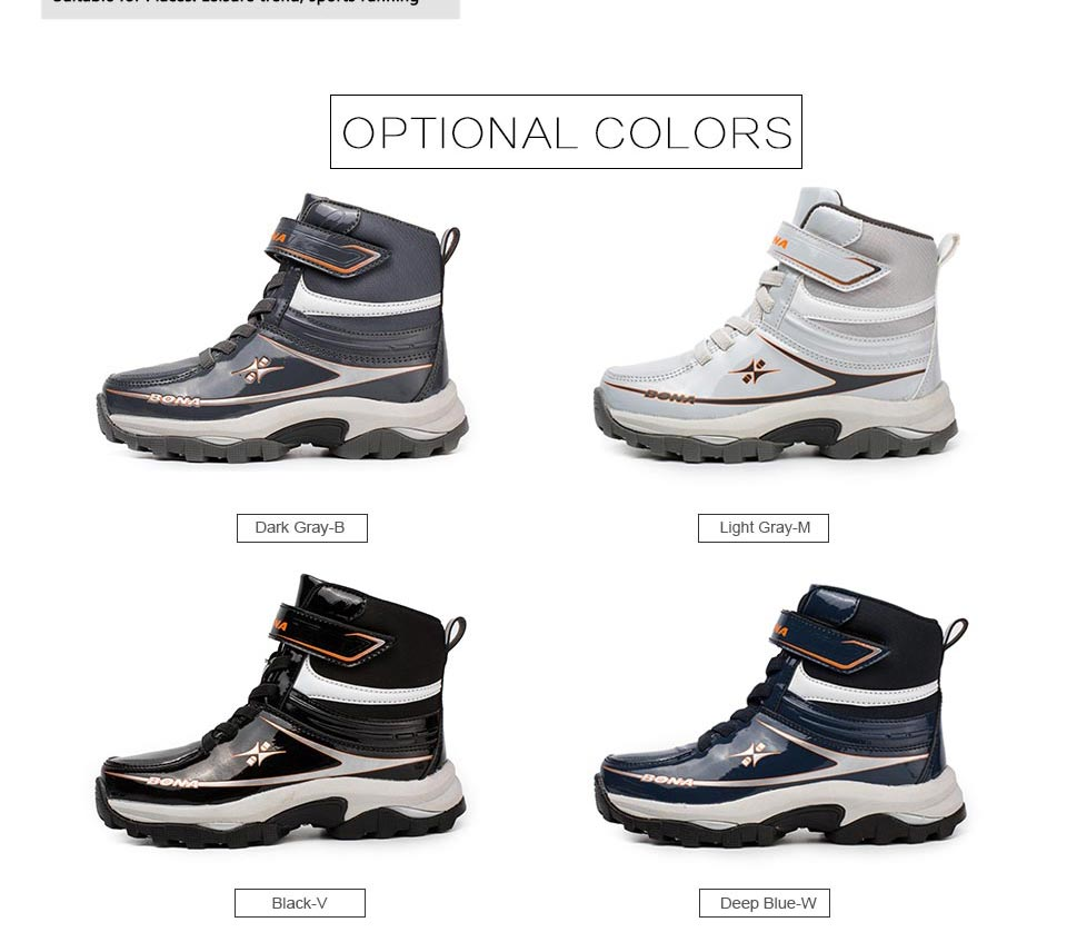 BONA New Arrival Classics Style Children Boots Lace Up Boys Winter Shoes Synthetic Girls Ankle Boots Comfortable Free Shipping