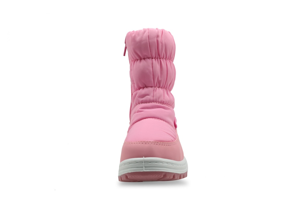 Apakowa Girl Snow Platform Boots Warm Plush Waterproof Children Winter Boots with Zipper Fluff Lining Baby Shoes 1 year Suit