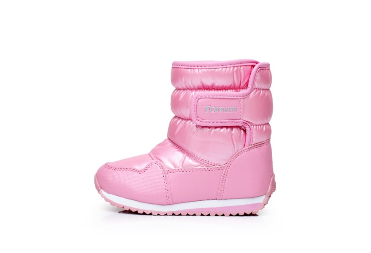 Children's Rubber Boots For Girls Boys Mid-calf Bungee Lacing Snow Boots Waterproof Girls Boot Sport Shoes Fur Lining Kids Boot