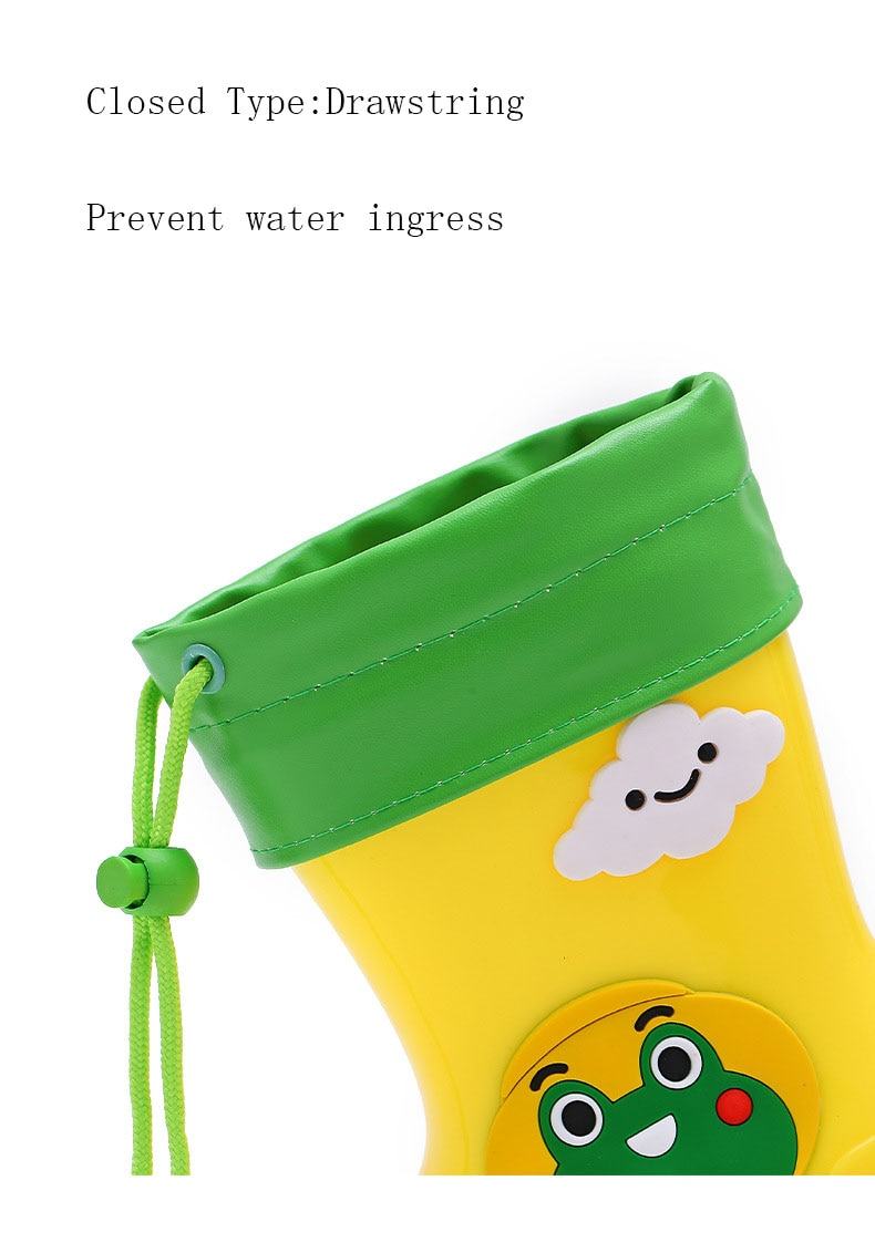 Warm and Waterproof Rainboots for Children Cute Girls Boys Removable Plush Shoe Cover Kids Shoes Outdoor Walking Shoes D03233