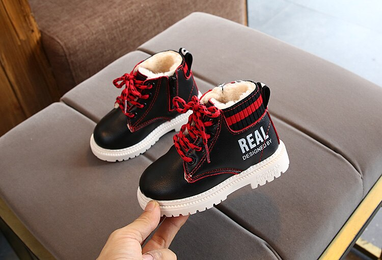 Top Selling Children Boots Shoes Girls Boys Winter Snow Boots Children Warm Sneaker Snow Boots Kids Baby Toddler Shoes 21-30