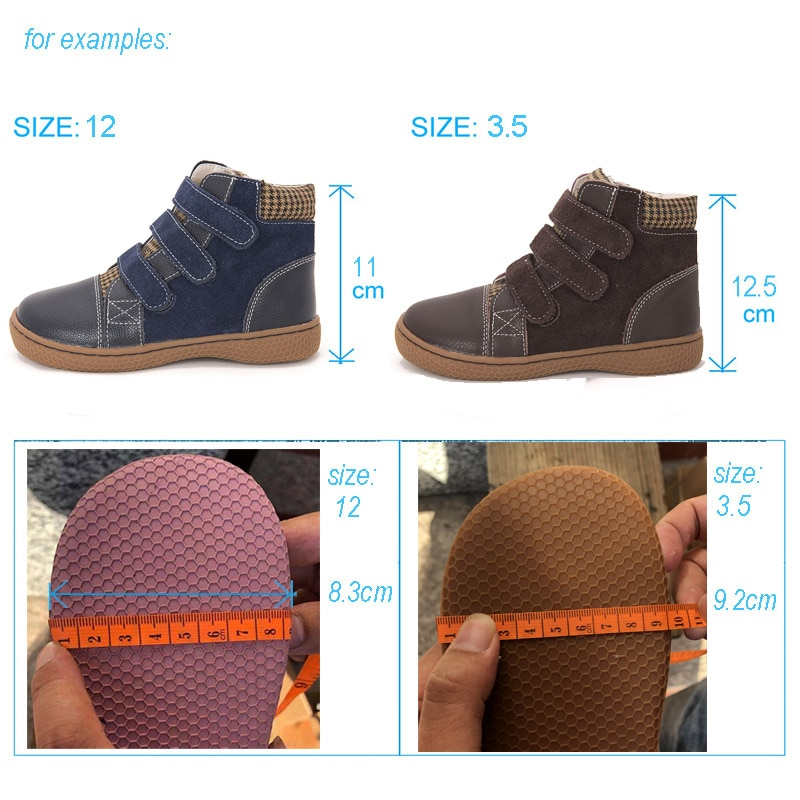 Genuine Leather boots kids shoes big size barefoot kids shoes toddler girls boots boys ankle boots fexiable shoes size25-35