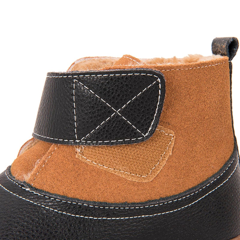 PEKNY BOSA leather suede boots Winter Shoes Warm girls boots Children Winter Shoes Little Boys Snow Boots Child Shoes size 25-35