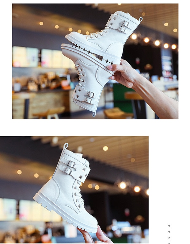 Fashion Children Boots Leather School Shoes High Top Rivets New Winter Riding Boots for Kids Girls Boys Boots Side Zipper D08191