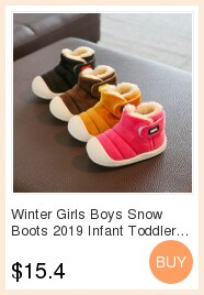 Autumn Winter Baby Girls Boys Snow Boots Children Warm Outdoor Plush Boots Kids Student Casual Short Martin Boots Shoes