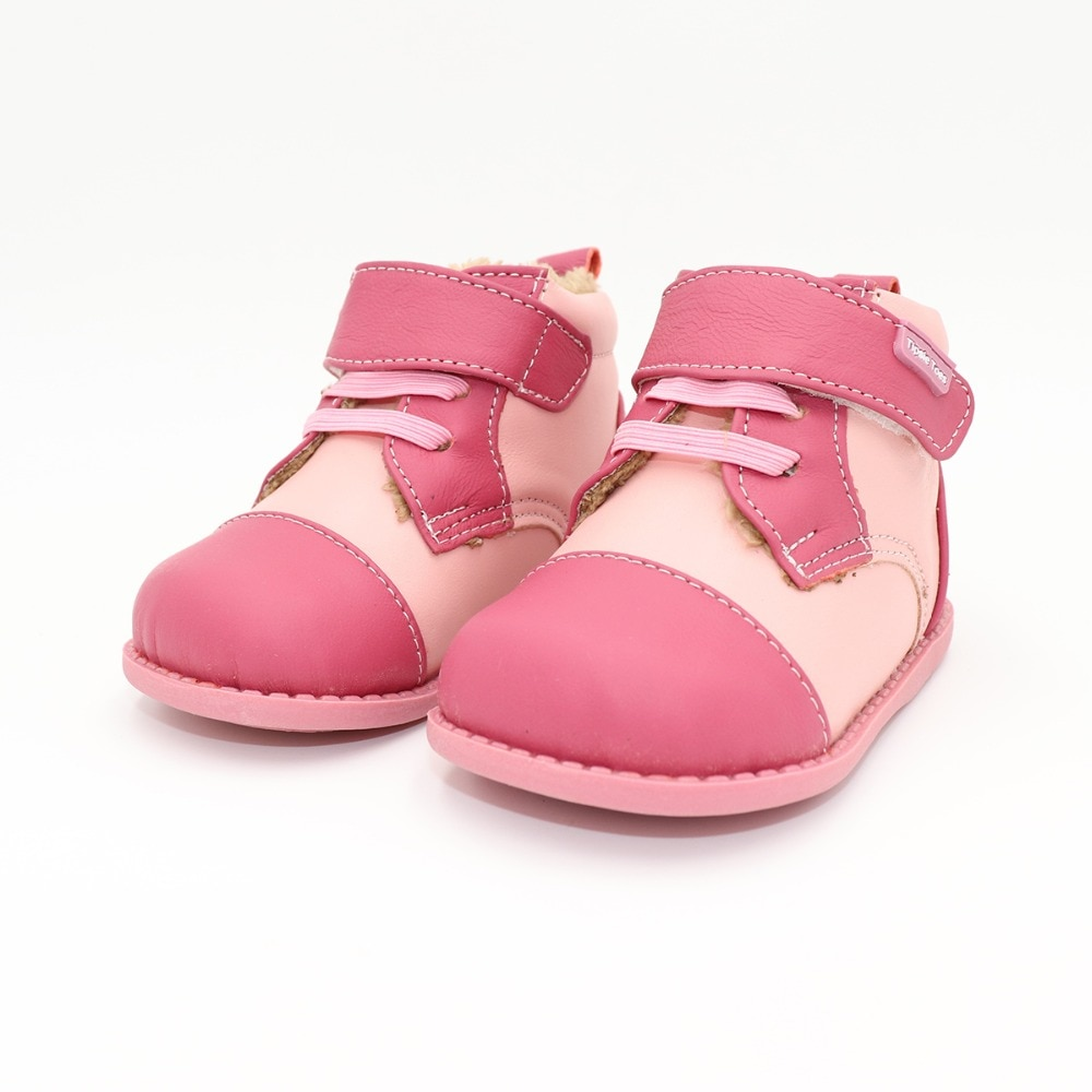 Tipsietoes 2020 New Winter Children Shoes Leather Martin Boots Kids Snow Girls Boys Rubber Fashion Pink Sneakers