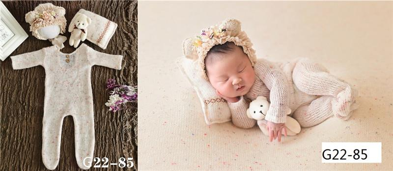 0-1 Month Newborn Photography Props Hat Baby Boy Girl Romper Bodysuits Outfit  Photography Baby Studio Shooting Props Clothing