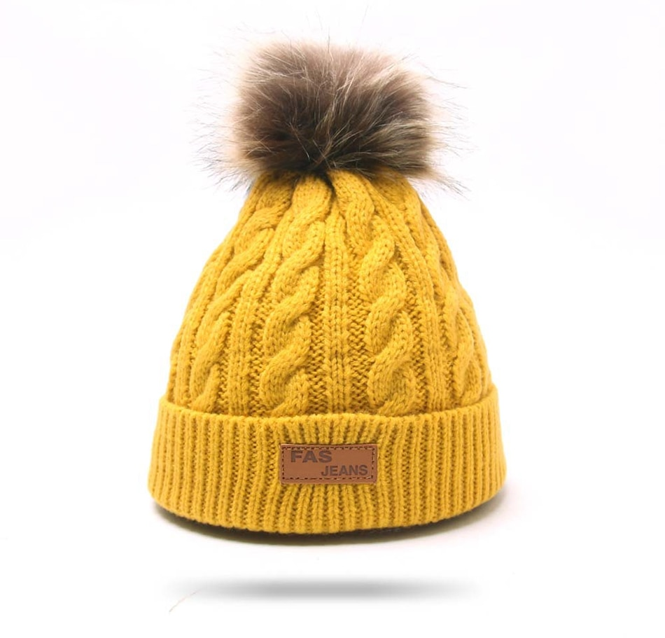Winter Warm Baby Beanies Hat Pompon Children Hats Knitted Cute Cap For Girls Boys Caps Casual Solid Color Girls Hat Kids Beanies