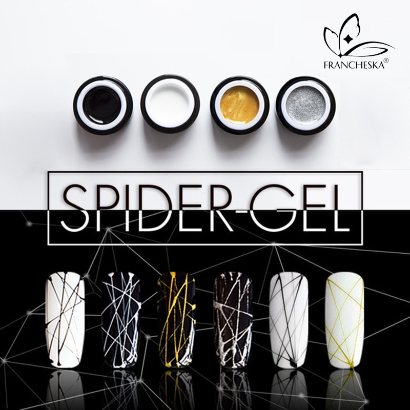 8ml Spider Nail Gel For Nails Art UV Mixed Colors Painting Gel Nail Polish Spider Gel Lacquer Top Base Primer Gel Polish TSLM1
