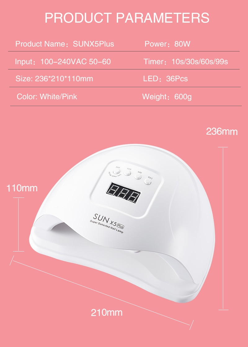 NEW Upgrade SUN M3 UV LED Nail Lamp Nail Dryer For All Gels 45 LEDs Lamp Polish Sun Light Timer 10/30/60s For Nail art tools
