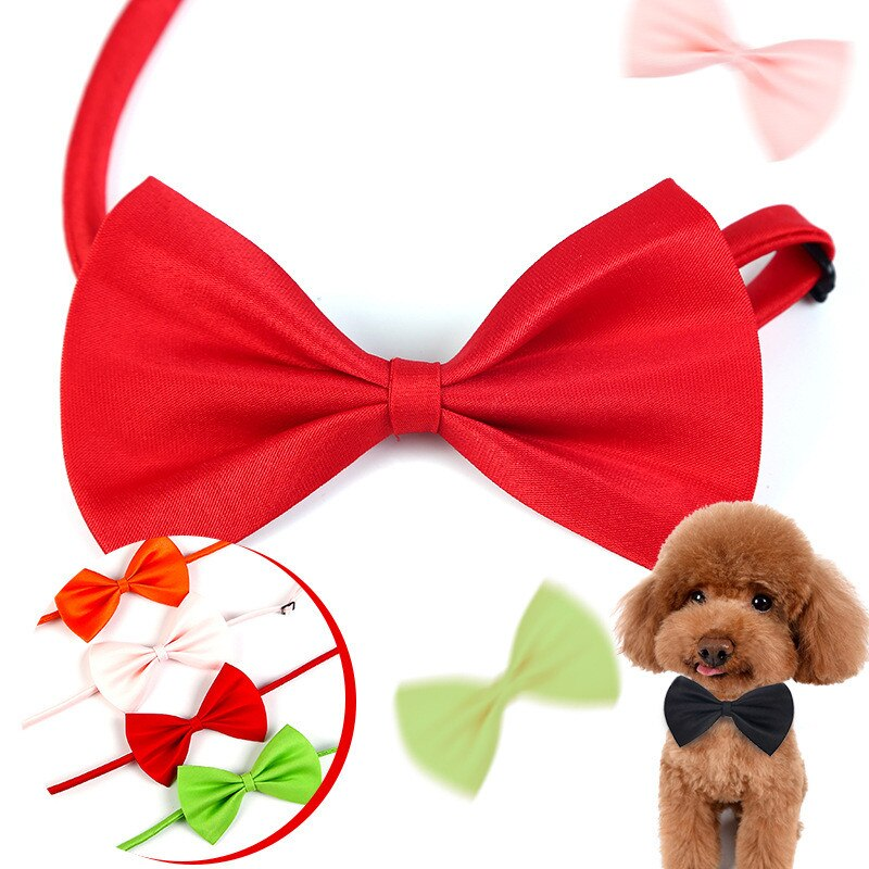 1 Piece Adjustable Dog Cat Bow Tie Neck Tie Pet Dog Bow Tie Puppy Bows Pet Bow Tie Different Colors Supply Pets Acessorios
