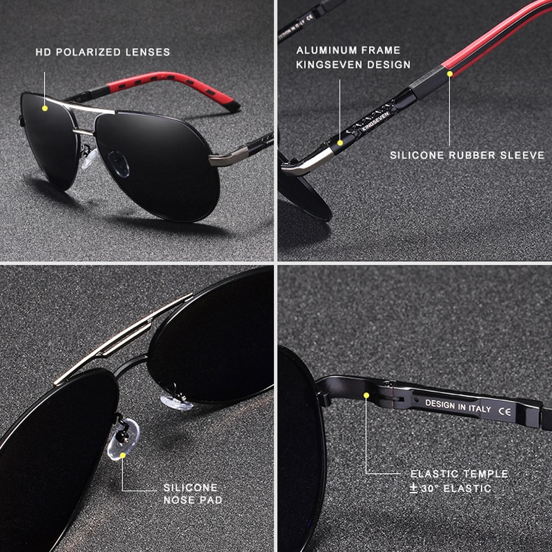 Men's Classic Design Polarized Aluminum Sunglasses