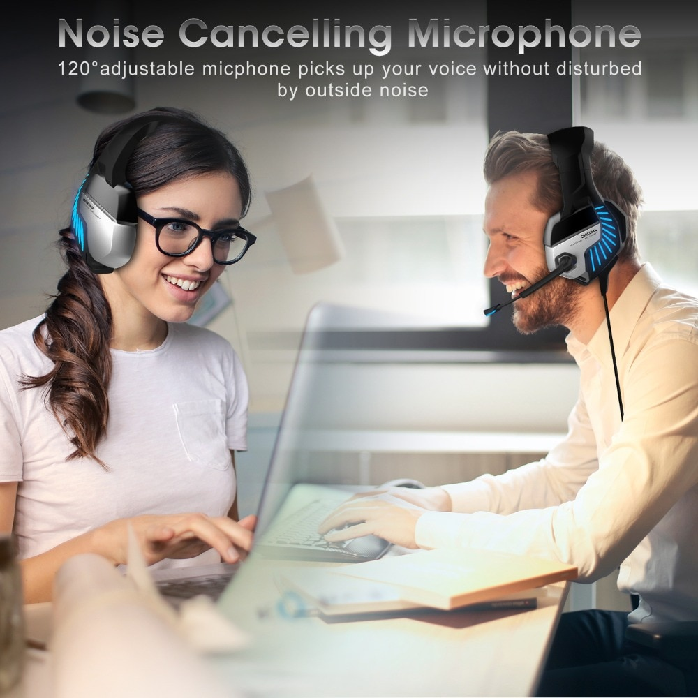 Wired Gaming Headset Led Light 7.1 Surround Sound Laptop Gamer Headphones With Microphone Stereo Earphone for Computer Phone PS4