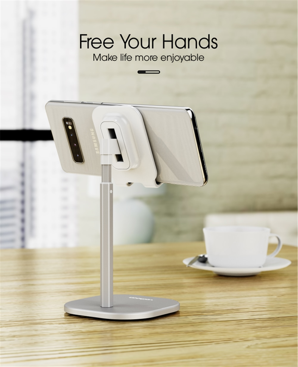 Vothoon Desk Mobile Phone Holder Stand For iPhone Universal Adjustable Metal Desktop Table Tablet Holder Stand For iPad Pro