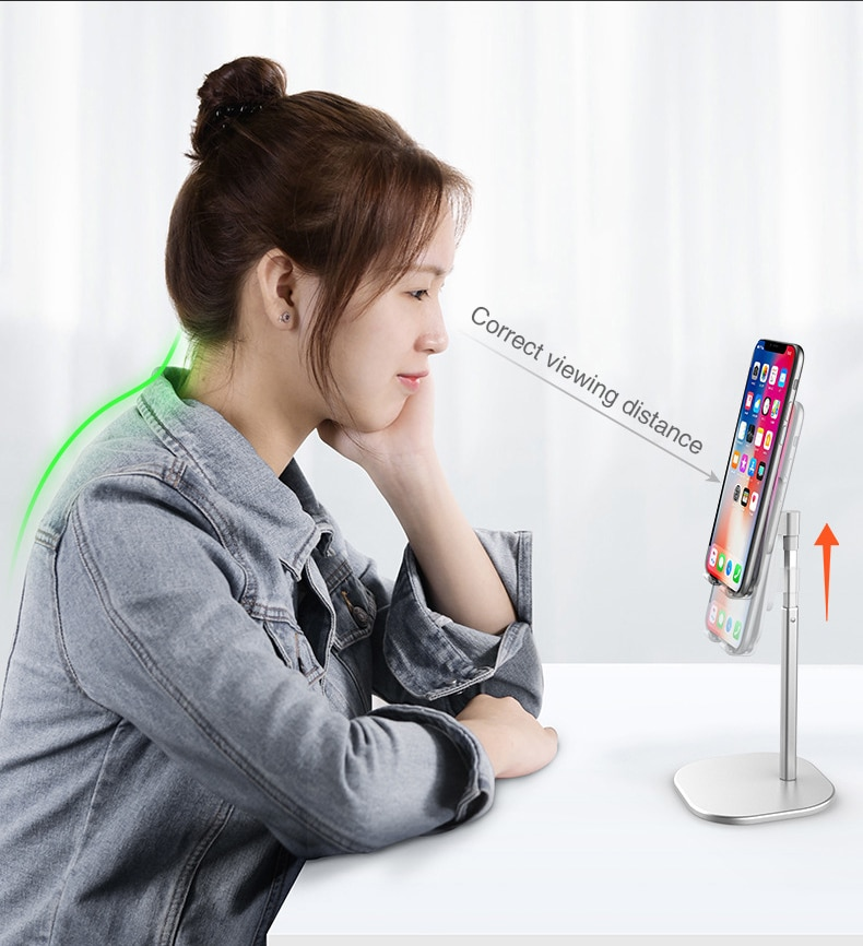 CASEIER Desk Mobile Phone Holder Stand For iPhone iPad Xiaomi Adjustable Desktop Tablet Holder Universal Table Cell Phone Stand