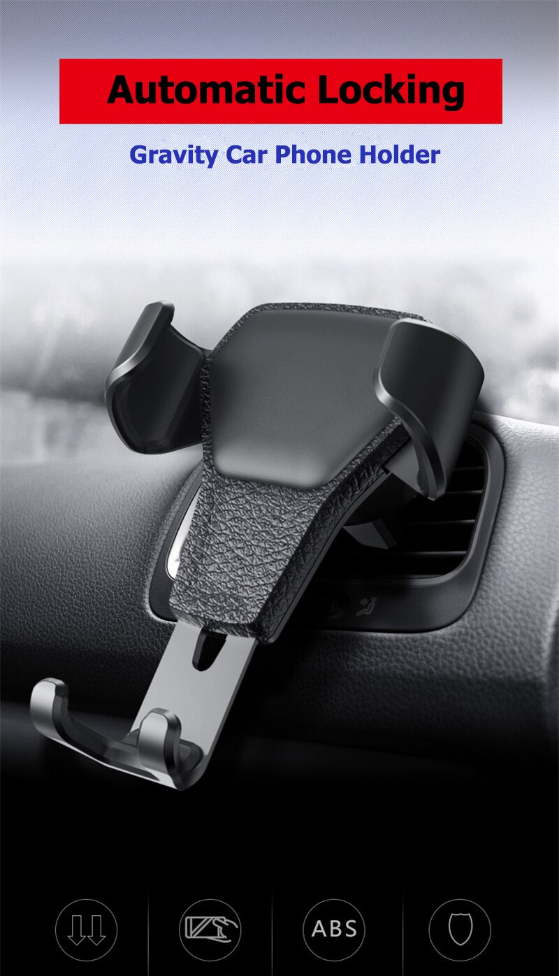 Car Phone Holder For Smartphone Gravity Bracket Universal For Phone In Car Air Vent Mount Stand No Magnetic Mobile Holder