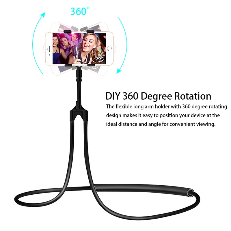 Hanging Mobile Phone Holder Lazy Neck Phone Stands Necklace Bracket Bed 360 Degree Phones Holder Stand For iPhone Xiaomi Huawei