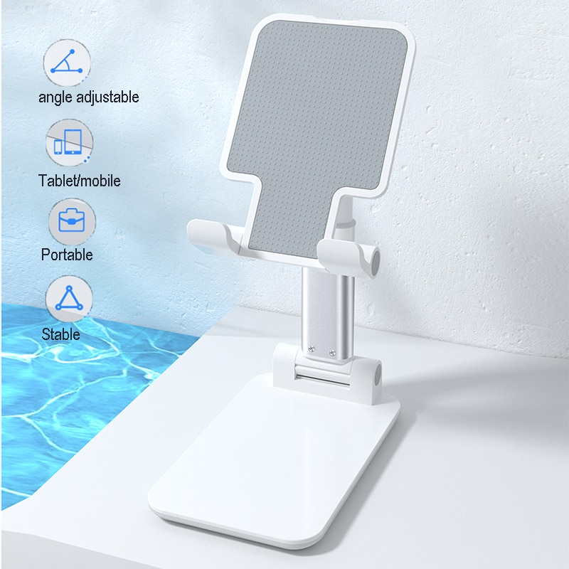 Universal Desktop Mobile Phone Holder Stand for iPhone iPad Adjustable Metal Tablet Foldable Table Cell Phone Stand Holder