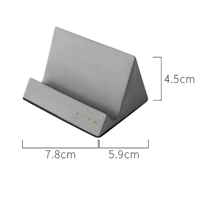 Handmade Silicone Concrete Mold Cement Mobile Phone Holder Moulds Nordic Original Ornaments Craft