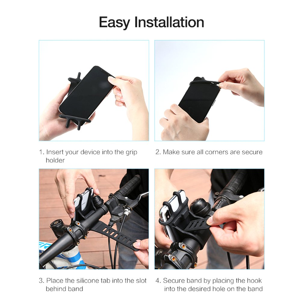 4~6.3inch Bicycle Phone Holder Bike Racks for iPhone Samsung Mobile Cell Phone Support Handlebar Mount Bracket GPS Stand