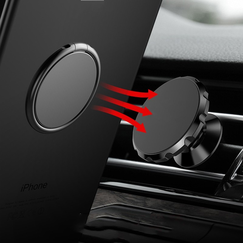 360 Degree Mobile Popular Magnet Phone Holder For iPhone X 8 7 Metal Finger Phone Stand For Samsung S9 Phone Magnet On Ca