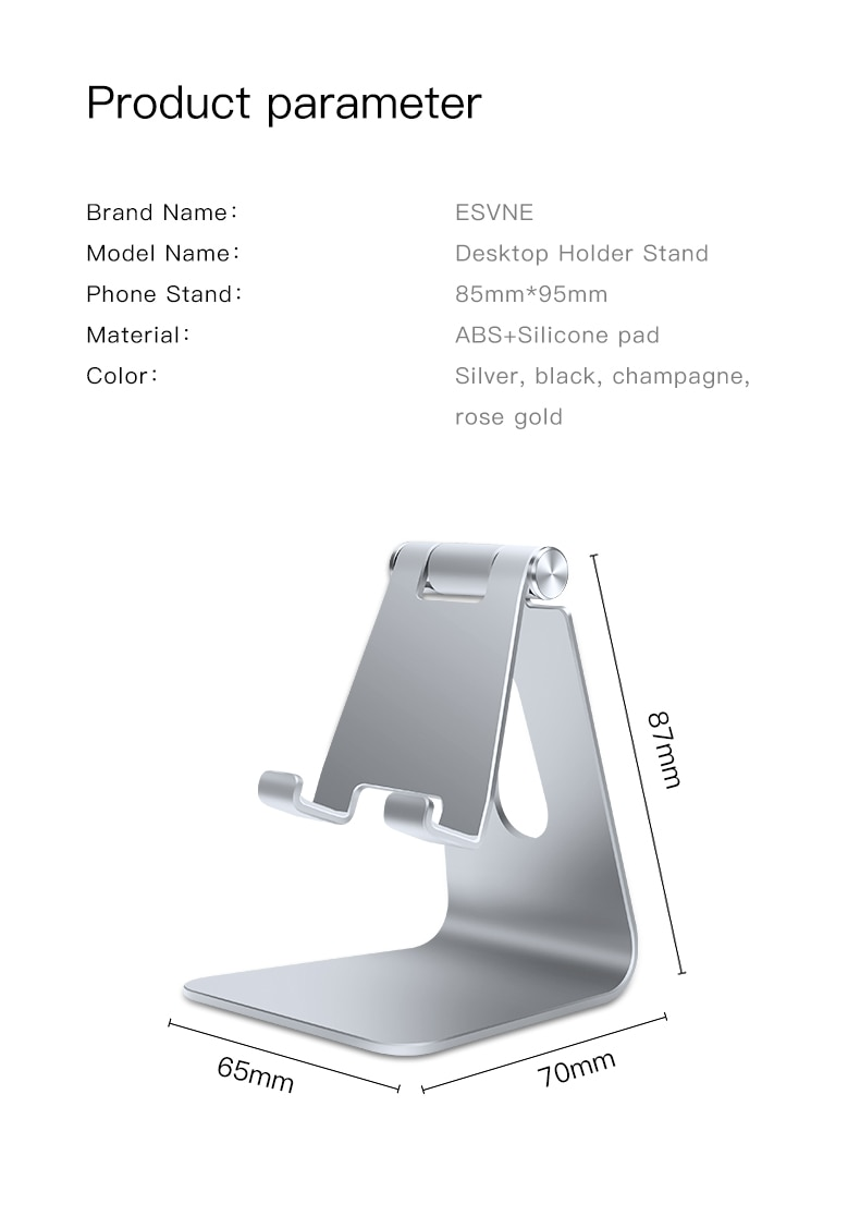amzish Universal mobile Phone Holder Stand For iPhone Desktop Support Tablet Cell phone Stand for Samsung Huawei Xiaomi