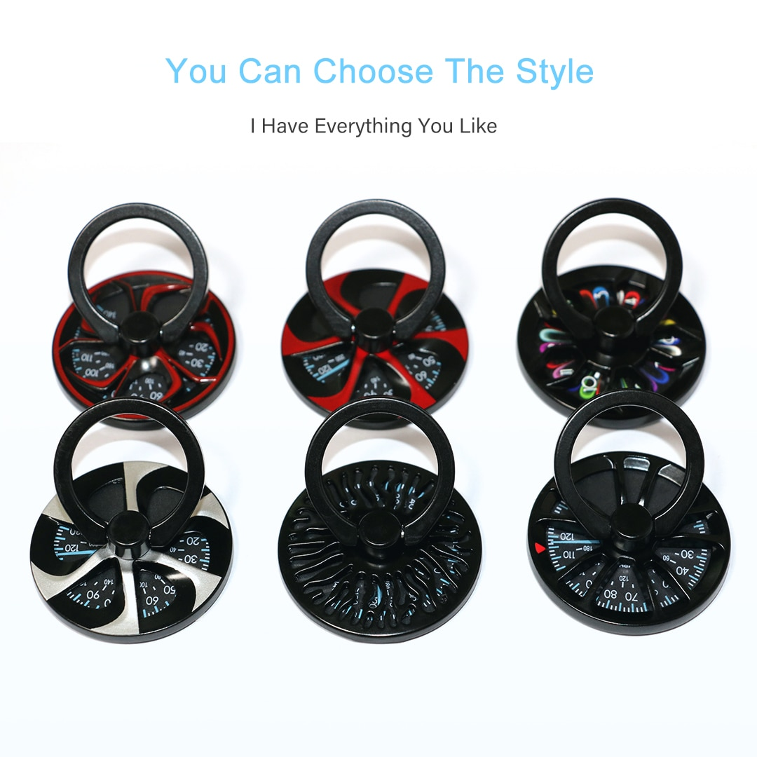 Gyro Finger Ring Holder Hand Spinner Rotary 360 Rotation Metal Mobile Phone Holder Stand For iPhone 7 8 Samsung S8 Huawei Fun