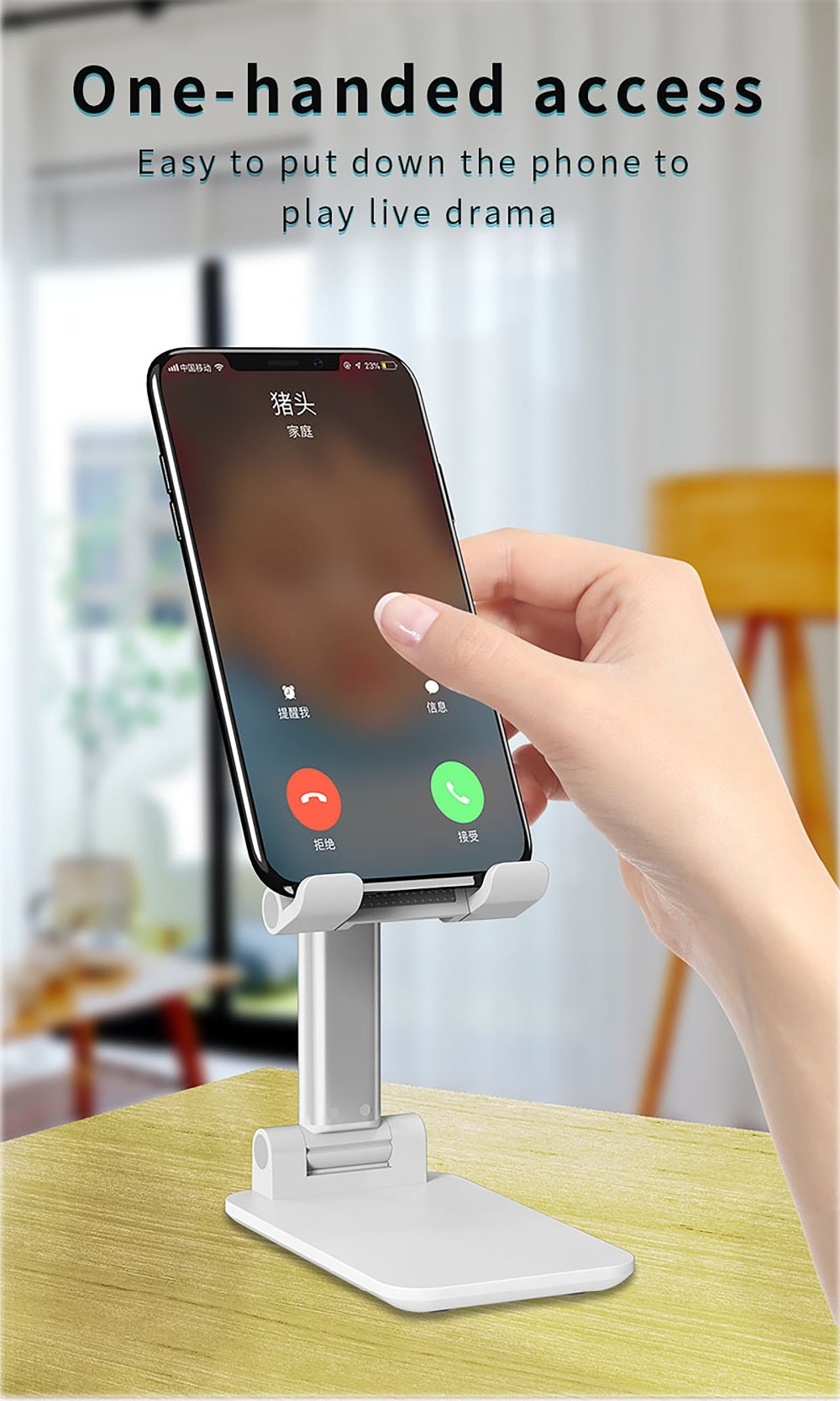 Desk Mobile Phone Holder Stand For iPhone iPad Xiaomi Samsung Adjustable Desktop Tablet Holder Universal Table Cell Phone Stand