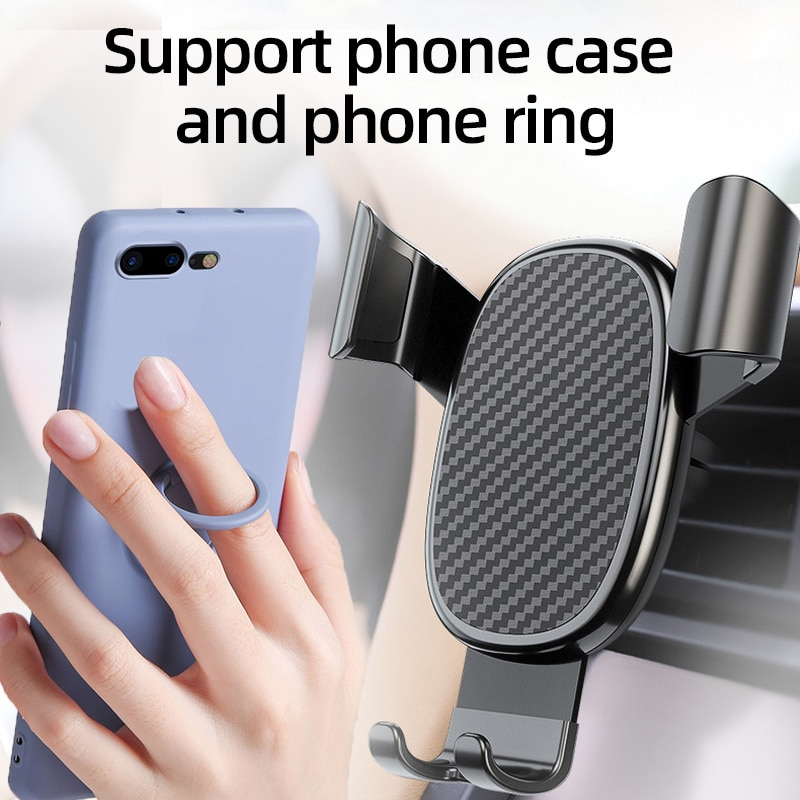 Car Phone Holder Mobile Phone Holder for Car Holder Phone Stand Steady Fixed Bracket Support Gravity sensing Auto Grip