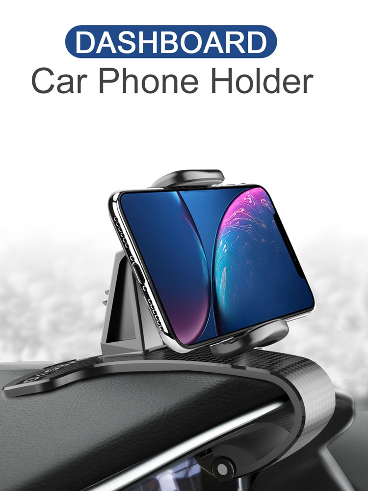 XMXCZKJ Universal Mobile Phone Accessorie Car Clip Phone Holder Rotatable GPS Dashboard Cell Phone Holder Mount Stand for Xiaomi