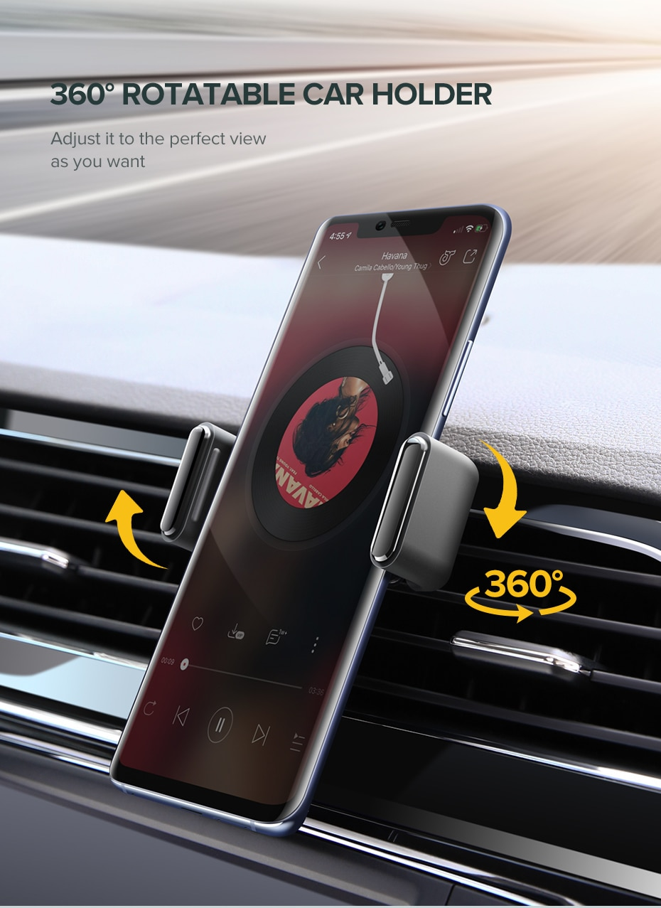 Ugreen Car Phone Holder Mobile Phone Support Mount In Car for Cell Phone Car Holder Stand Mobile Stand