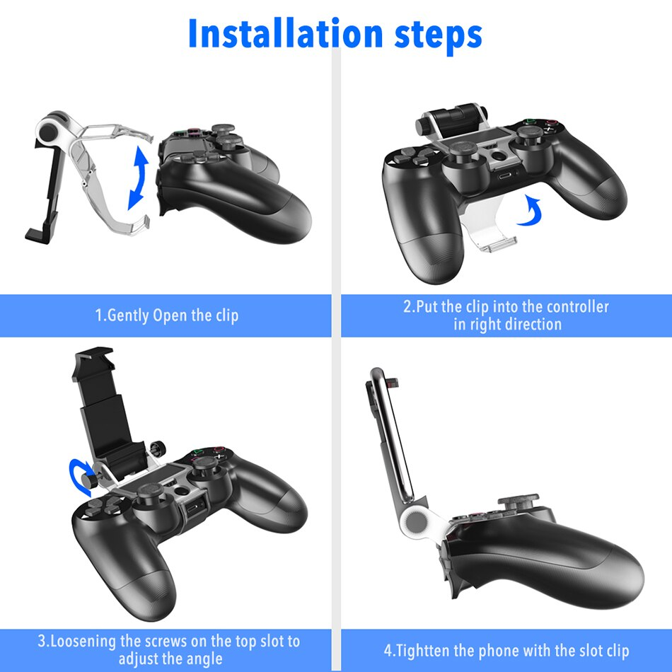PS4 controller Handgrip-Stand Clip-Holder Smart Mobile Phone stand Clamp Mount Bracket Gamepad Controller Stand Holder for PS4