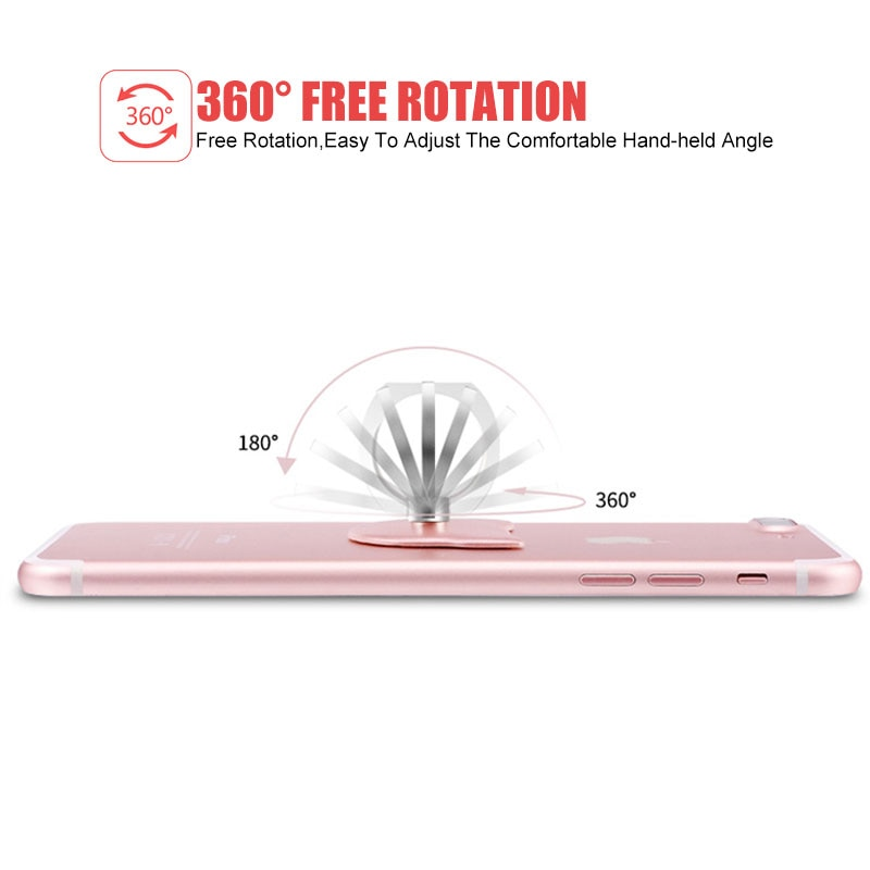 Cell Phone Ring Holder Stand Metal Universal 360 Rotation For Samsung S10 HUAWEI P30 Magnetic Car Mount Stand Smartphone