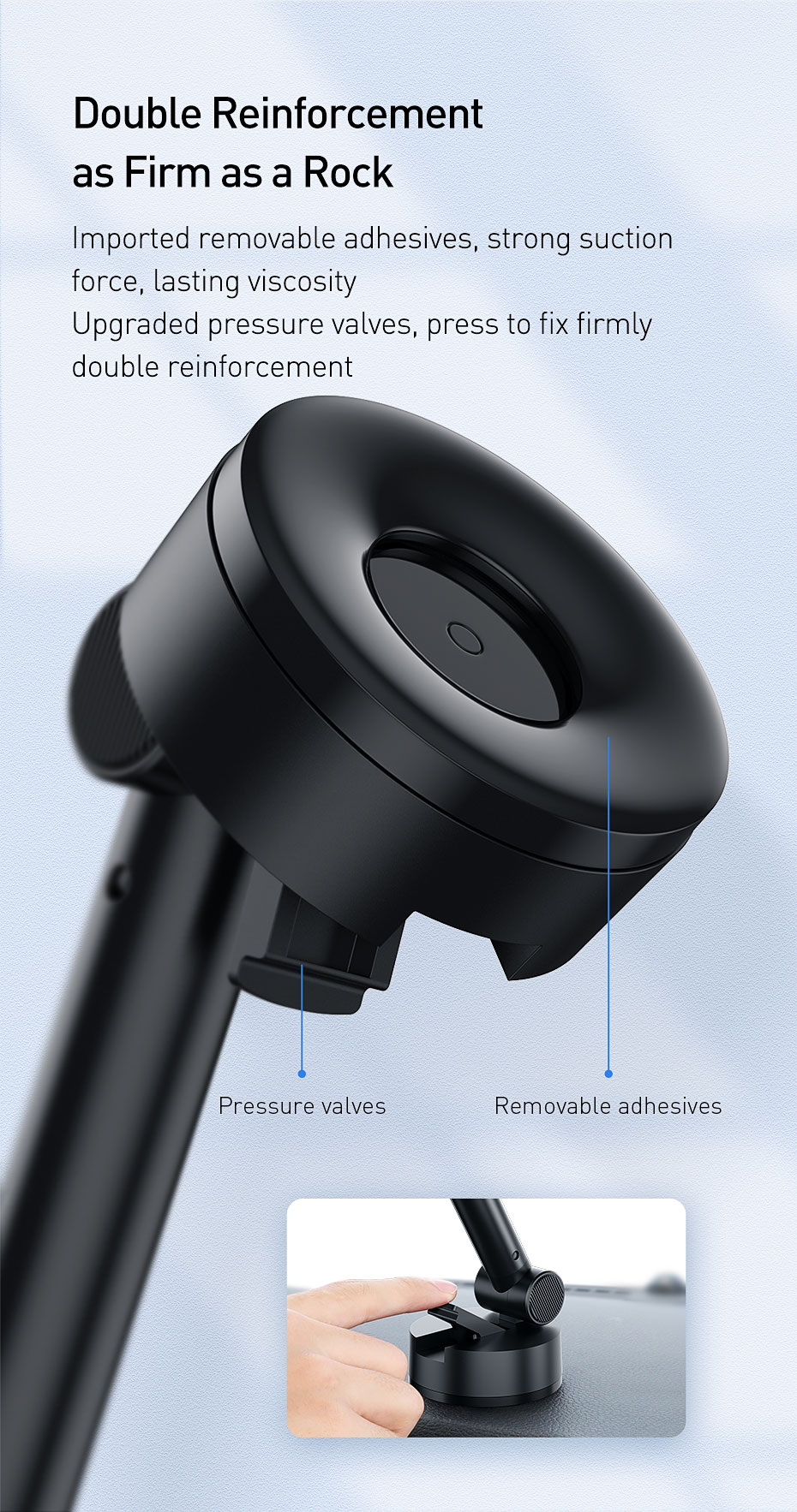 Baseus Gravity Car Phone Holder For iPhone 11 pro Suction Cup Cell Mobile Phone Support Stand Holder For Xiaomi Samsung Huawei