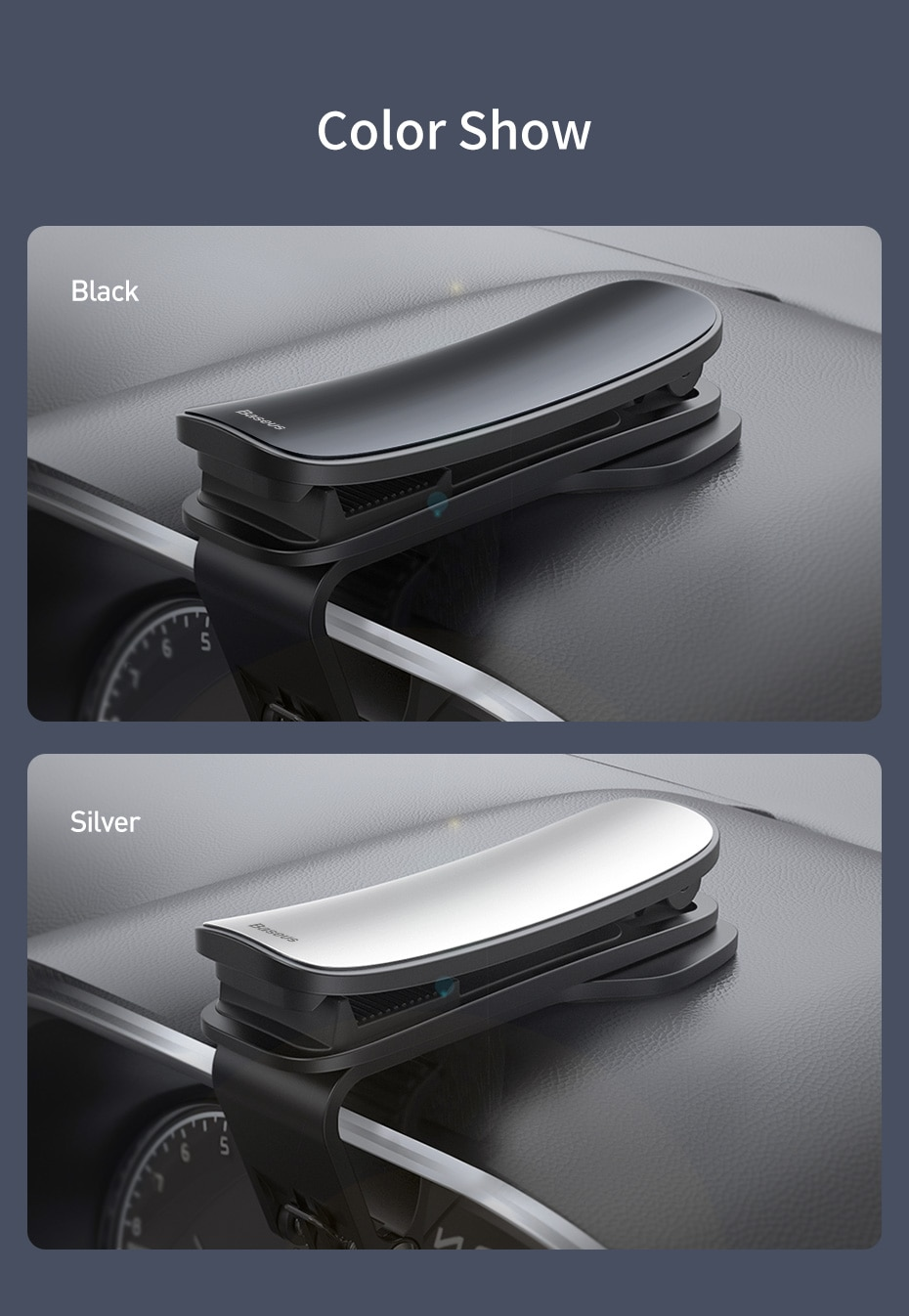 Baseus Car Phone Holder Dashboard Mount Stand For iPhone 11 pro Xs Max Mobile Phone Support Holder For Samsung Xiaomi Huawei