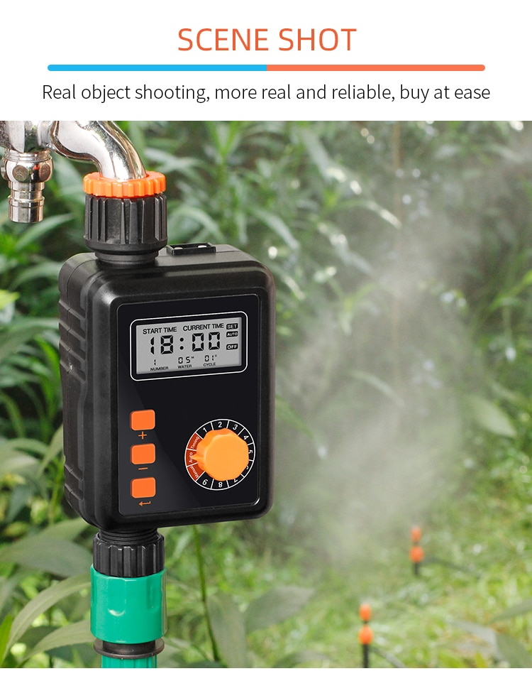 Garden Watering Timer Rain function Knob Automatic Electronic Water Timer Home Garden Irrigation Timer Controller System #85940