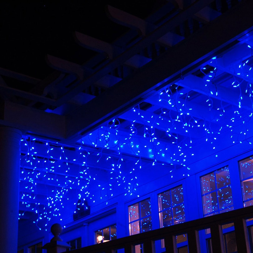 4.6M LED Christmas Light Outdoor Indoor Garland String Fairy Light Street Icicle Curtain Drop 0.4-0.6m Garden Home Deco 110-220V