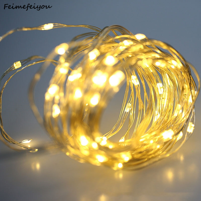 2/3/5/10M Copper Wire LED String Lights Holiday Lighting Fairy Lights Garland For Christmas Wedding Party Garden Decoration