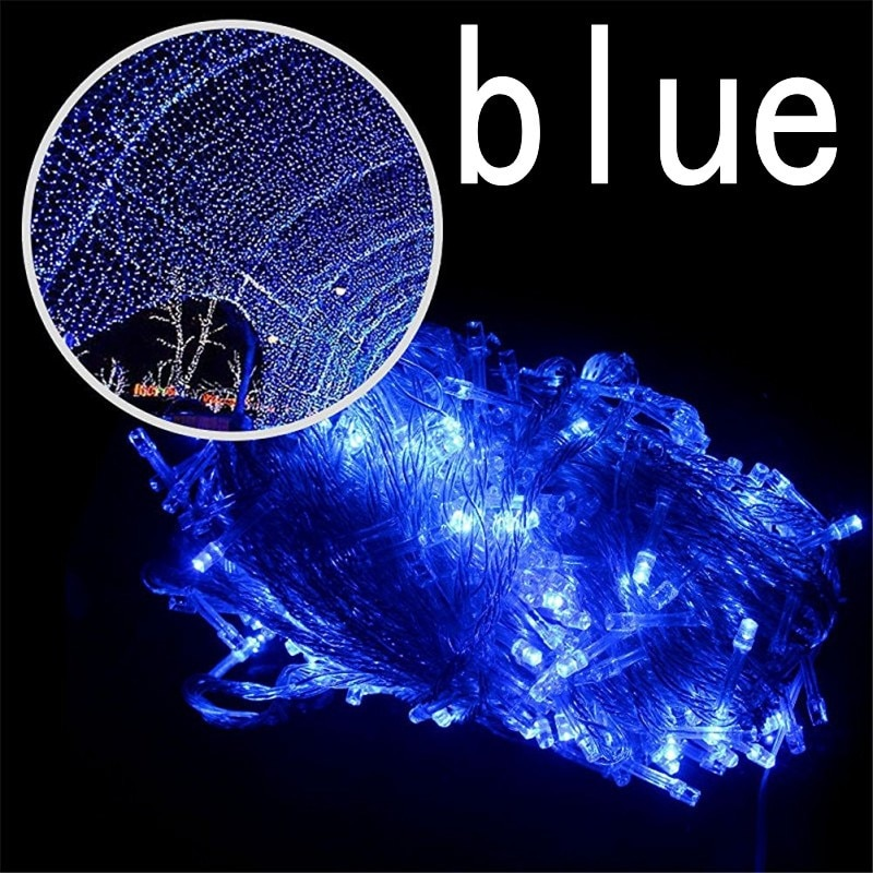 blue color 30m 240 led String Lights for Xmas Tree Holiday Wedding Party Decoration Halloween  Restaurant or Bar and Home Garden