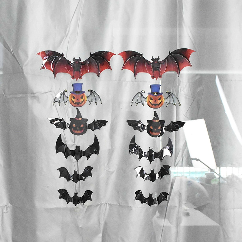 12pcs/set Halloween Decoration 3D Bat Decoration Wall Sticker DIY Room Wall Decals Home Party Decor for Halloween Wall Stickers