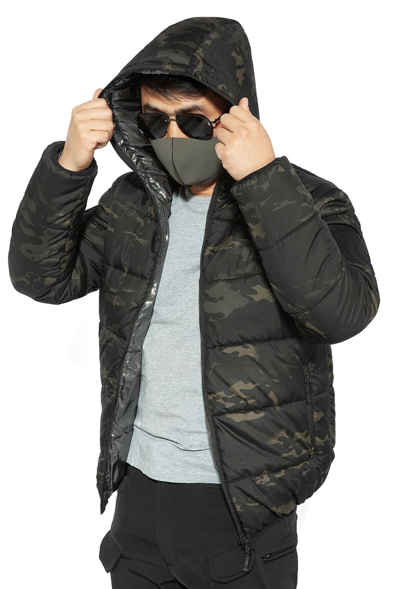 Mege Brand Winter Parka Men Military Camouflage Clothing Spring Warm Thermal Hooded Men's Winter Jacket Coat Light Weight
