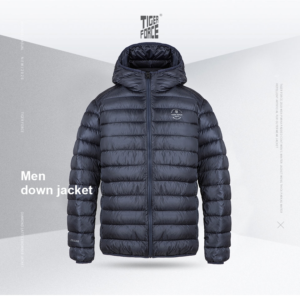 TIGER FORCE 2020 New Men's Winter Jacket Casual High-quality cotton  brand clothing fashion male's warm men coat parkas 70712