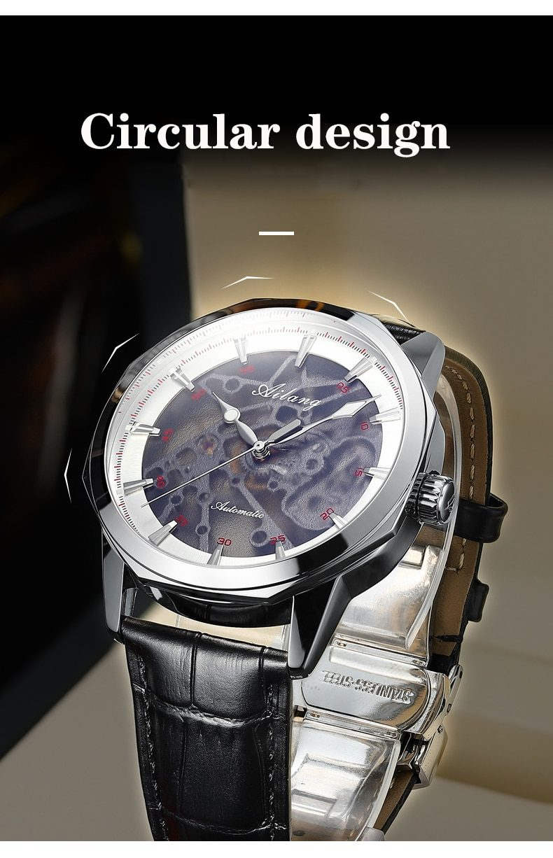 AIALNG 2020 Men's Automatic Mechanical Watch Hollow Fashion Sports Watch High-end Men's Casual Business Watch New