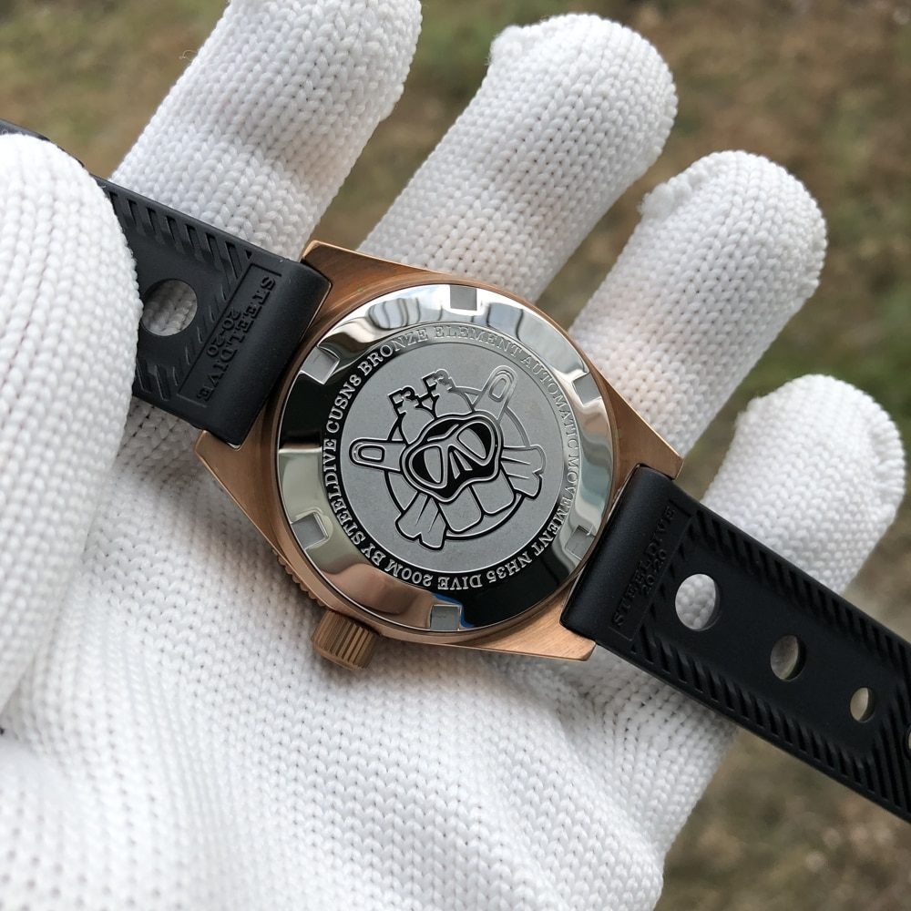 STEELDIVE 1962S Germany CuSn8 Bronze Mechanical Watch Men Automatic Bronze Dive Watch 300m Sapphire NH35 Automatic Watches Men
