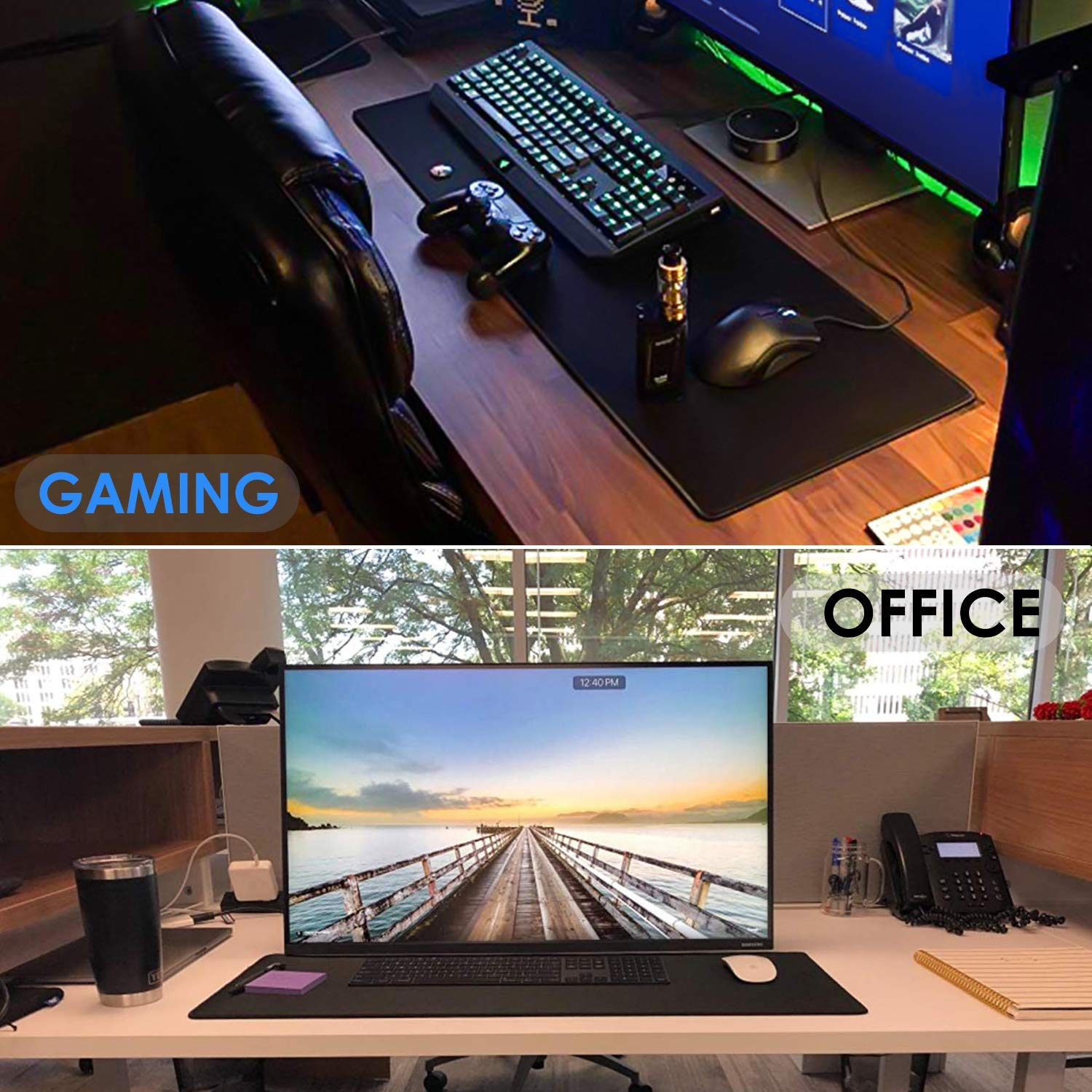 Big Mouse Pad Gaming Mouse Pad Gamer Large Mouse Mat Computer Mousepad XXL Carpet Rubber Surface Mause Pad Keyboard Desk Mat