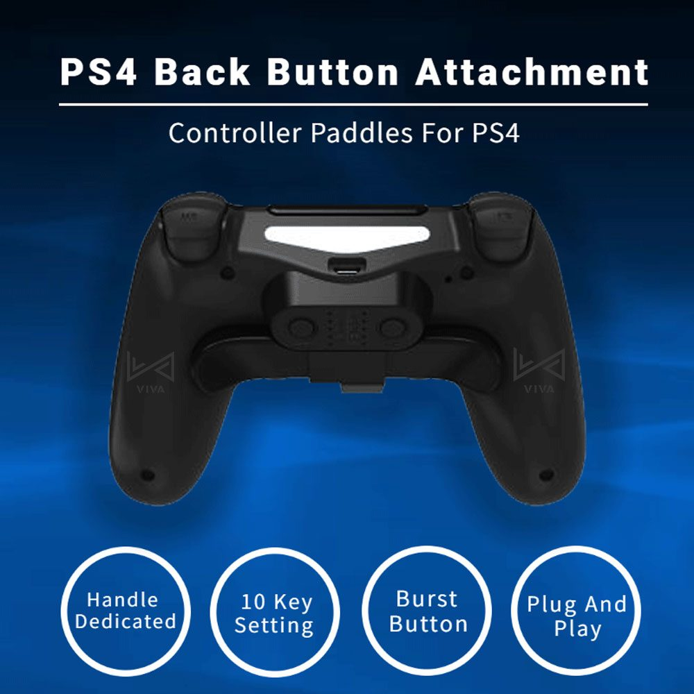 Accessories For PS4 Gamepad Back Button Attachment For DualShock4 Controller Paddles Rear Extension Keys
