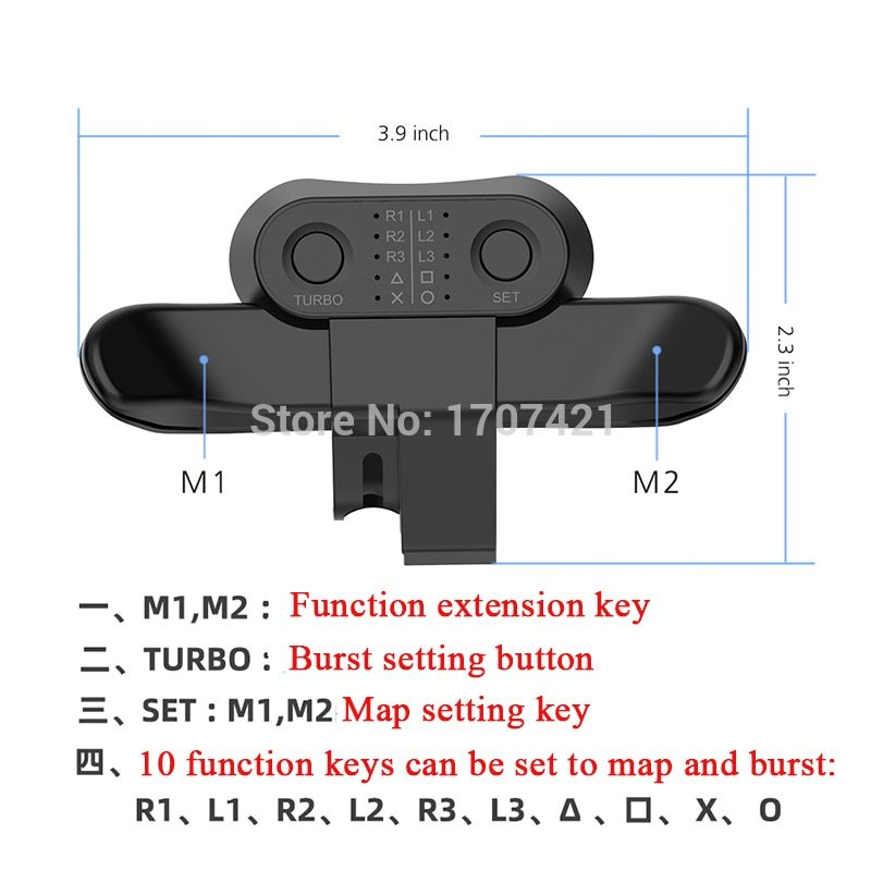 PS4 Replacement Paddles For DualShock4 Joysticks Back Button Attachment For Playstation 4 Controller Rear Extension Keys