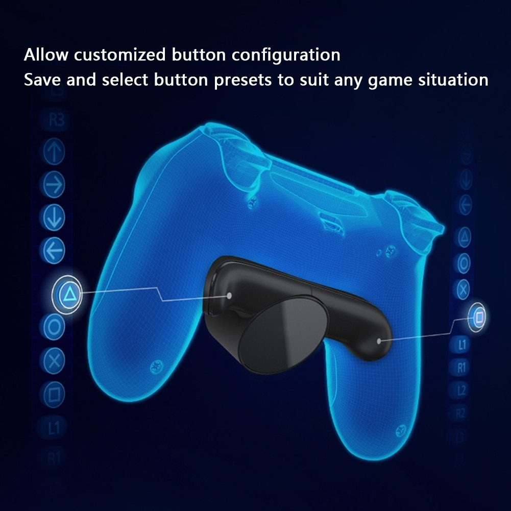 ALLOYSEED Game Handle Joystick Back Rear Button Attachment Extension Key Replacement For SONY PS4 DualShock 4 Gamepad Controller